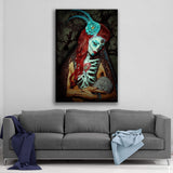 Day of the Dead Craneo de Diamantes By Daveed Benito Canvas Art