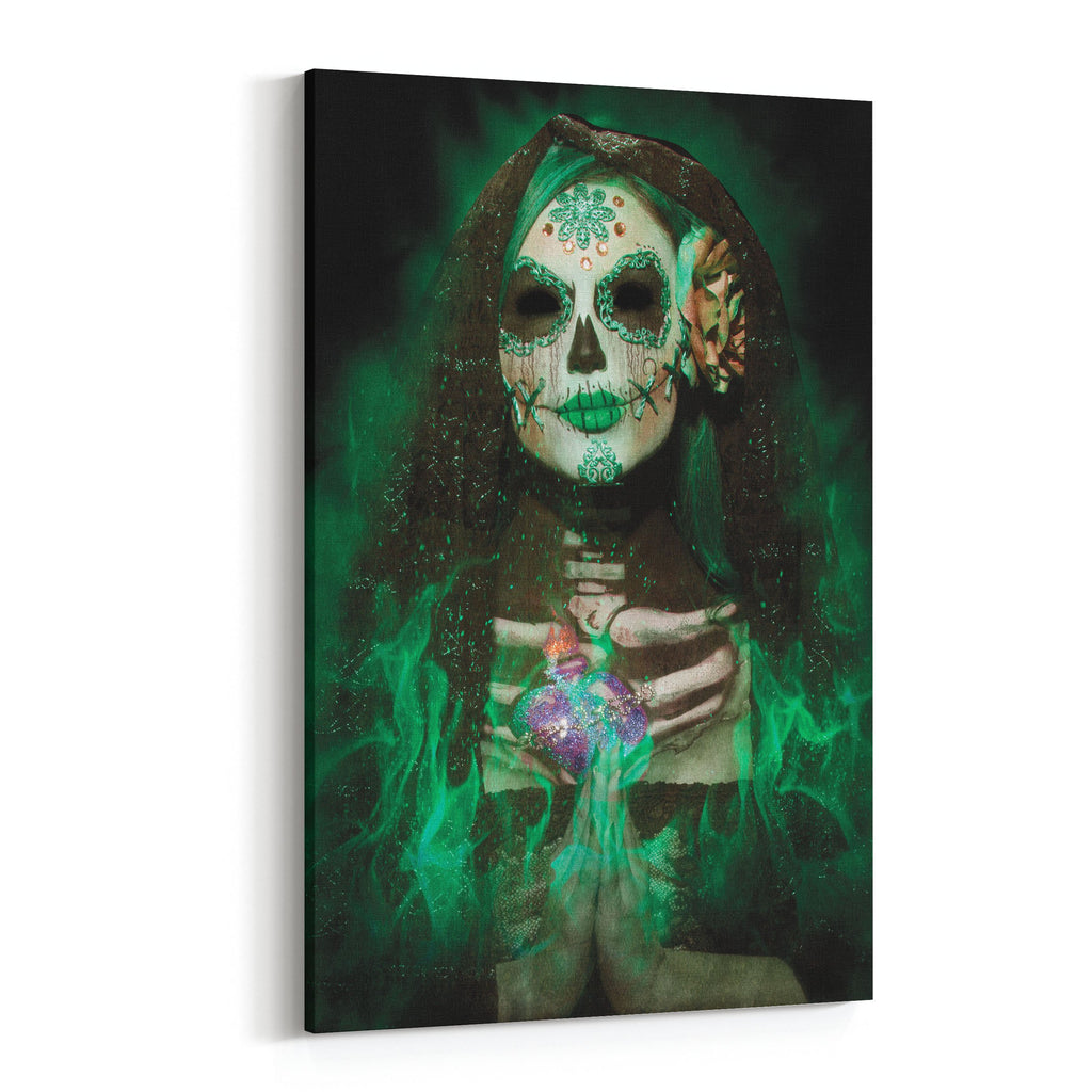 Day of the Dead Emerald By Daveed Benito Canvas Art