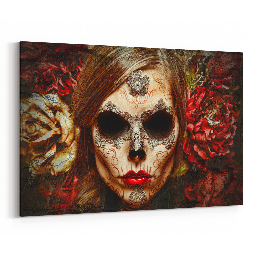 Day of the Dead Frente a la Muerte By Daveed Benito Canvas Art