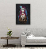 Canvas Day of the Dead La Palabra de Dios By Daveed Benito Canvas Art