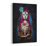 Day of the Dead La Palabra de Dios By Daveed Benito Canvas Art