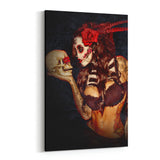Day of the Dead Love is Dead By Daveed Benito Canvas Art