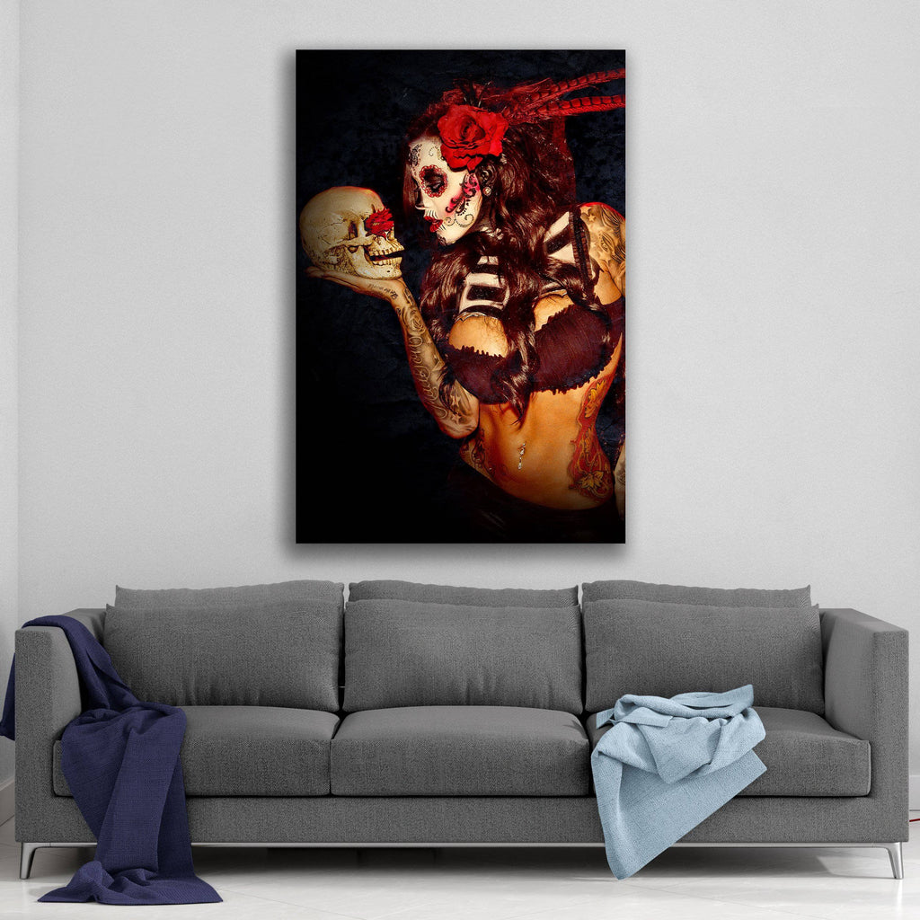 Canvas Day of the Dead Love is Dead By Daveed Benito Canvas Art