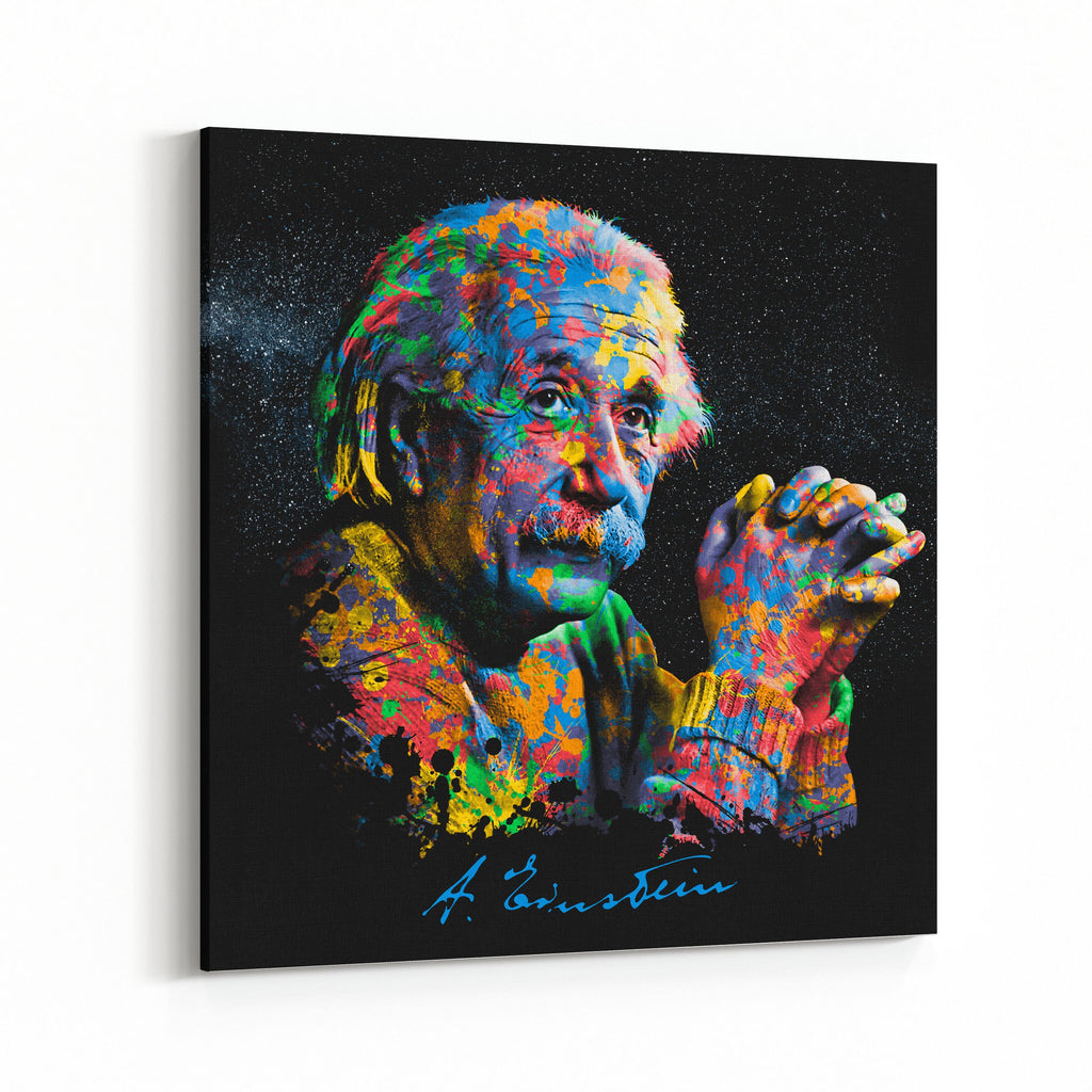 Einstein Brilliance of Color Canvas Art