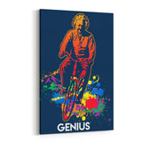 Einstein Genius Bike Canvas Art