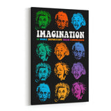 Einstein Many Faces of Imagination Canvas Art