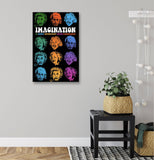 Canvas Einstein Many Faces of Imagination Canvas Art