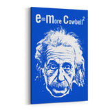 Einstein More Cow Bell Canvas Art