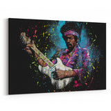 Jimi Hendrix Electric Glow by Stephen Fishwick Canvas Art