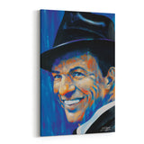 Frank Sinatra Old Blue Eyes by Stephen Fishwick Canvas Art