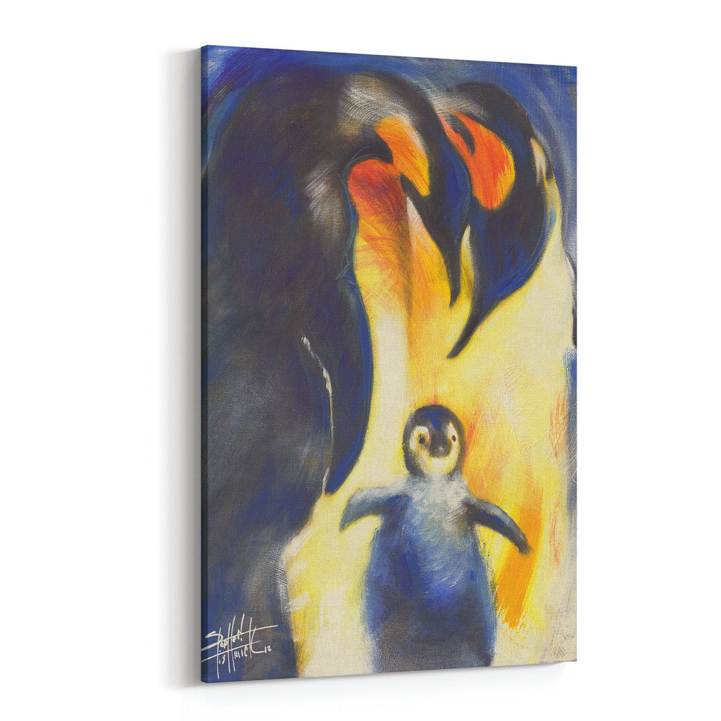 Future Emperor Penguin Family by Stephen Fishwick Canvas Art