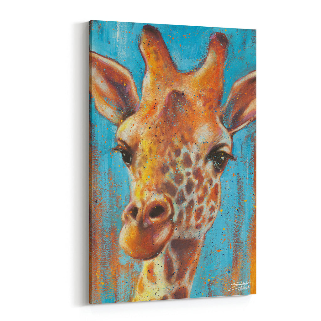 Heightened Alert Giraffe by Stephen Fishwick Canvas Art