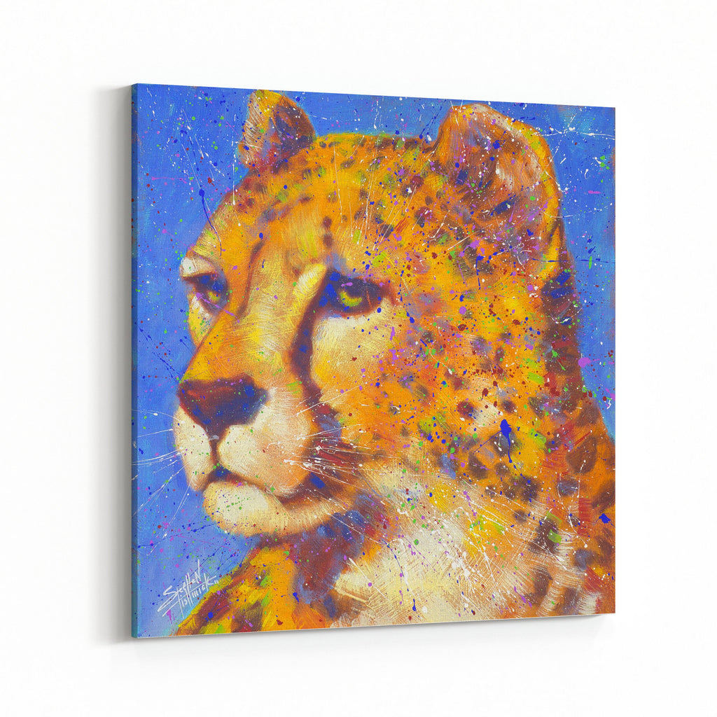 Holding Fast Cheetah by Stephen Fishwick Canvas Art