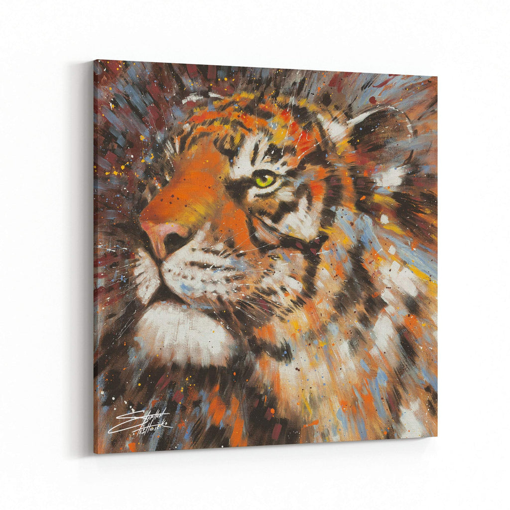 Illuminated Tiger by Stephen Fishwick Canvas Art