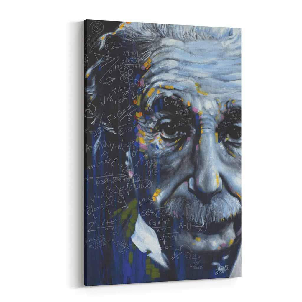 It's All Relative Einstein by Stephen Fishwick Canvas Art