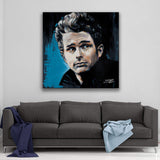 James Dean by Stephen Fishwick Canvas Art