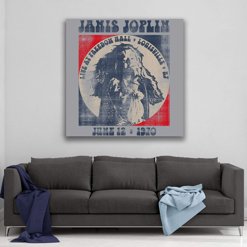 Janis Joplin 1970 Live at Freedom Hall Canvas Art