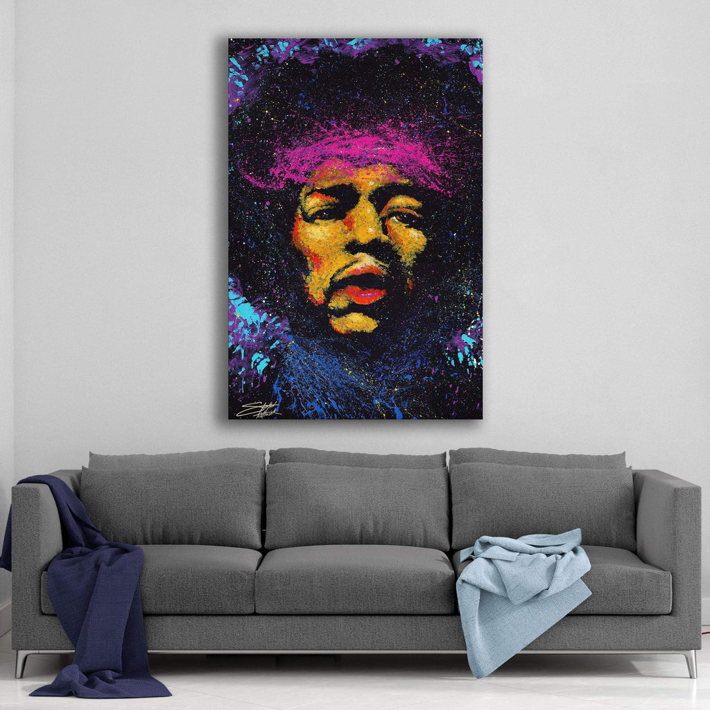 Jimi Hendrix Bandana by Stephen Fishwick Canvas Art