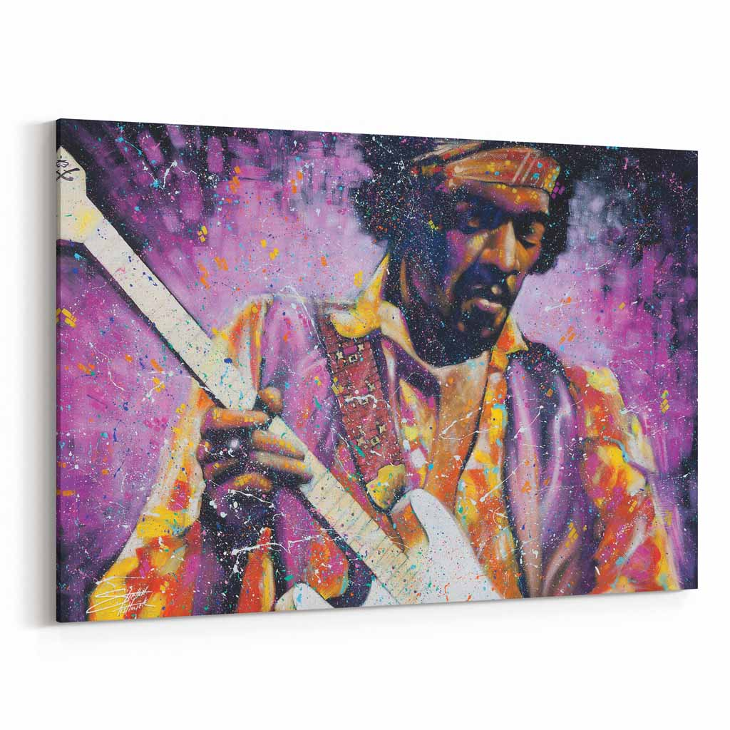 Jimi Hendrix Watchtower by Stephen Fishwick Canvas Art