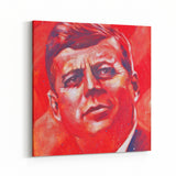 John F Kennedy JFK by Stephen Fishwick Canvas Art