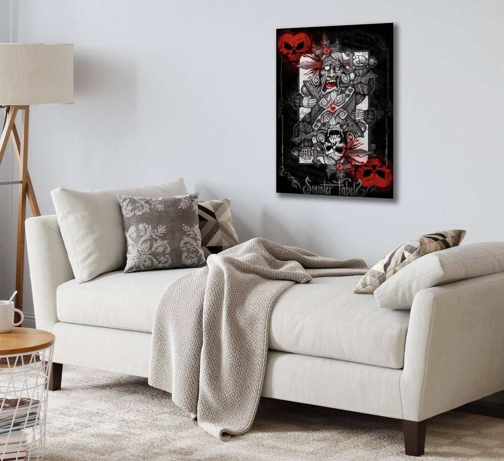 Canvas King of Hearts by Big Chris Canvas Art