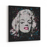 Marilyn Monroe Pop Gray by Stephen Fishwick Canvas Art