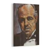 Marlon Brando Don Corleone by Stephen Fishwick Canvas Art
