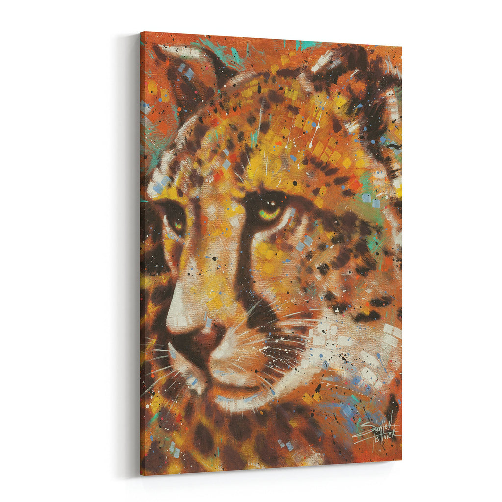 Movement Spotted Cheetah by Stephen Fishwick Canvas Art