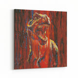 Never Cross a T-Rex by Stephen Fishwick Canvas Art
