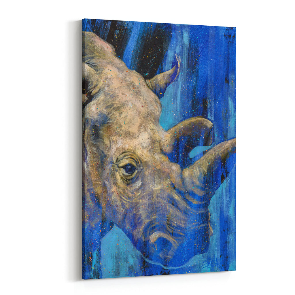 Nola Rhinoceros by Stephen Fishwick Canvas Art