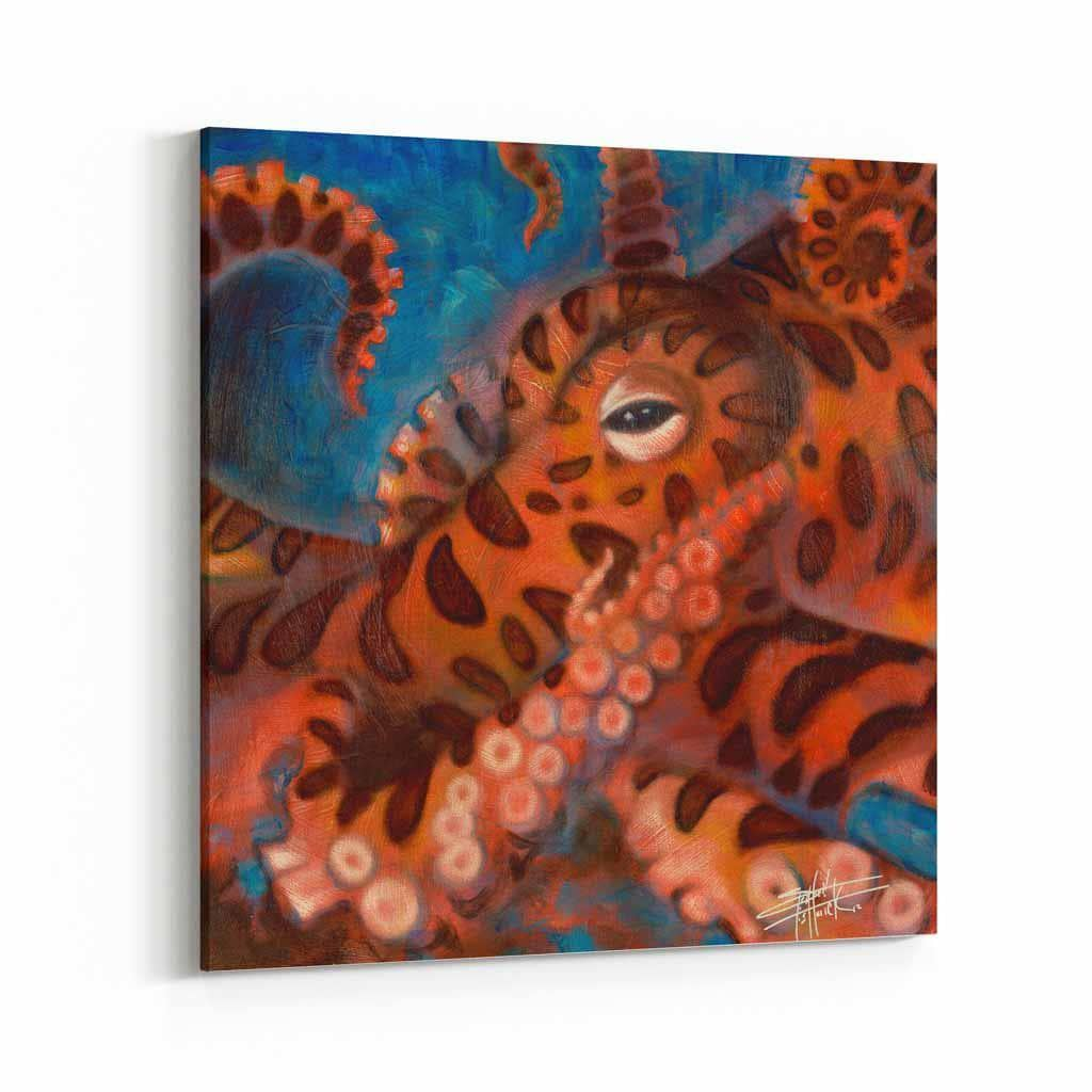Octopus by Stephen Fishwick Canvas Art