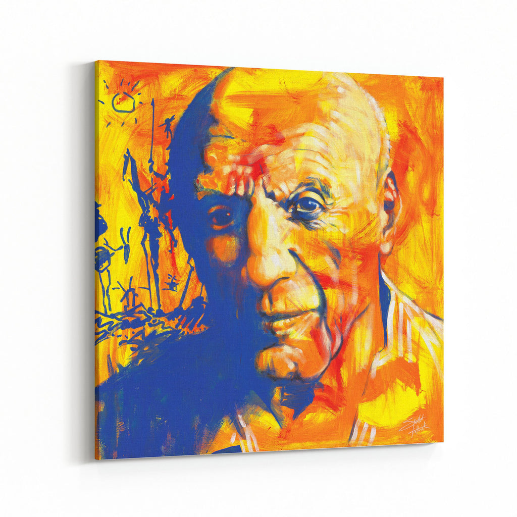 Pablo Picasso by Stephen Fishwick Canvas Art