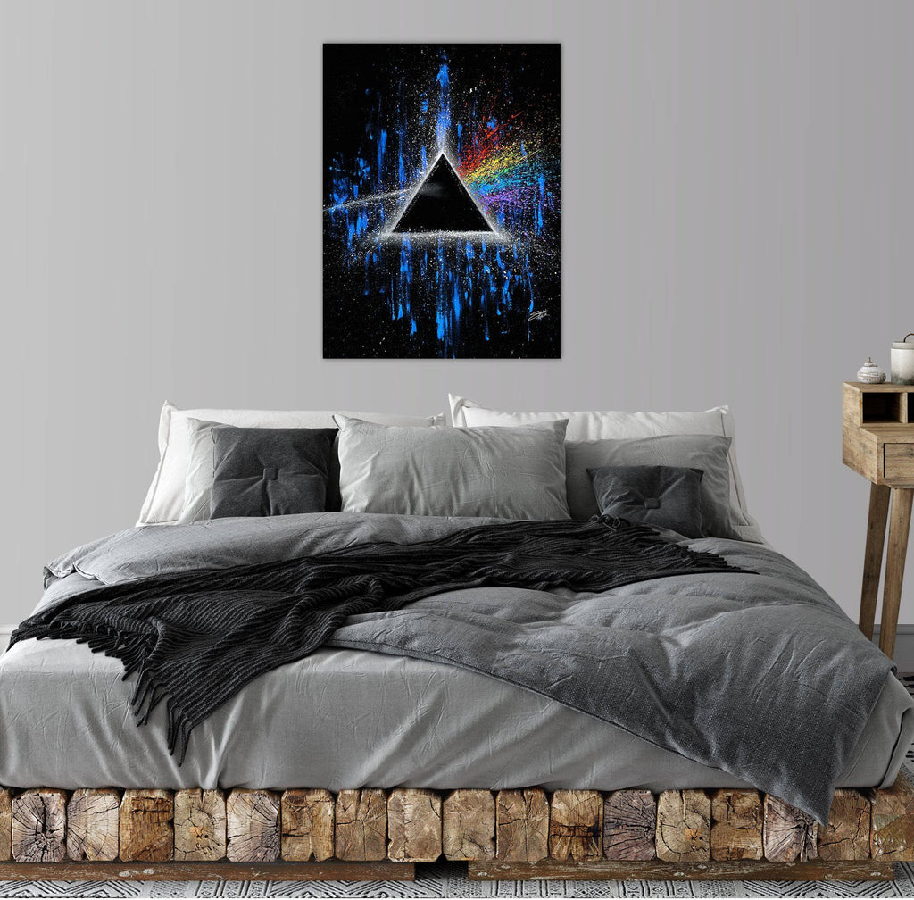 Canvas Pink Floyd Dark Side of the Moon by Stephen Fishwick Canvas Art