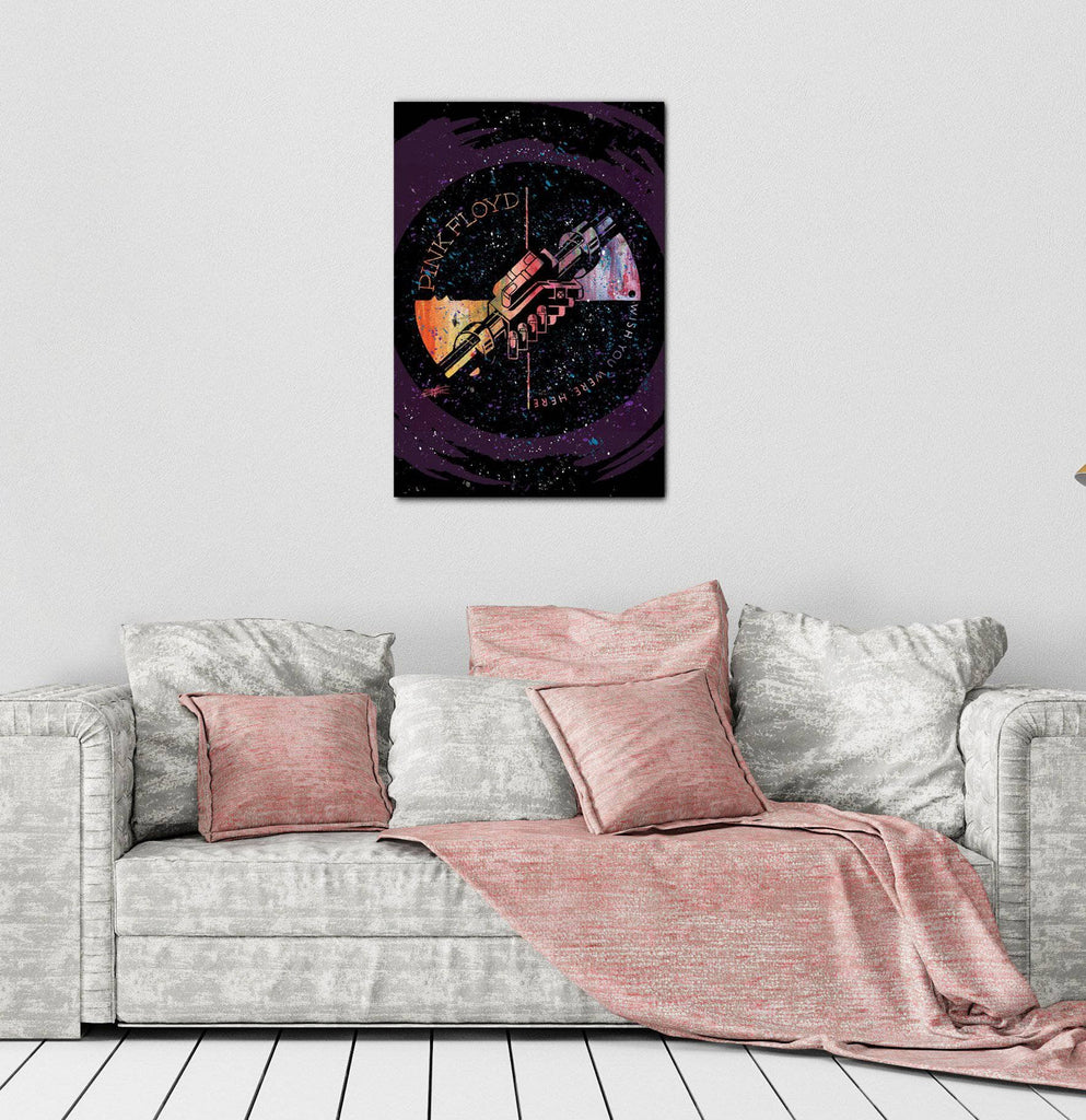 Canvas Pink Floyd Machine Greeting Orange by Stephen Fishwick Canvas Art