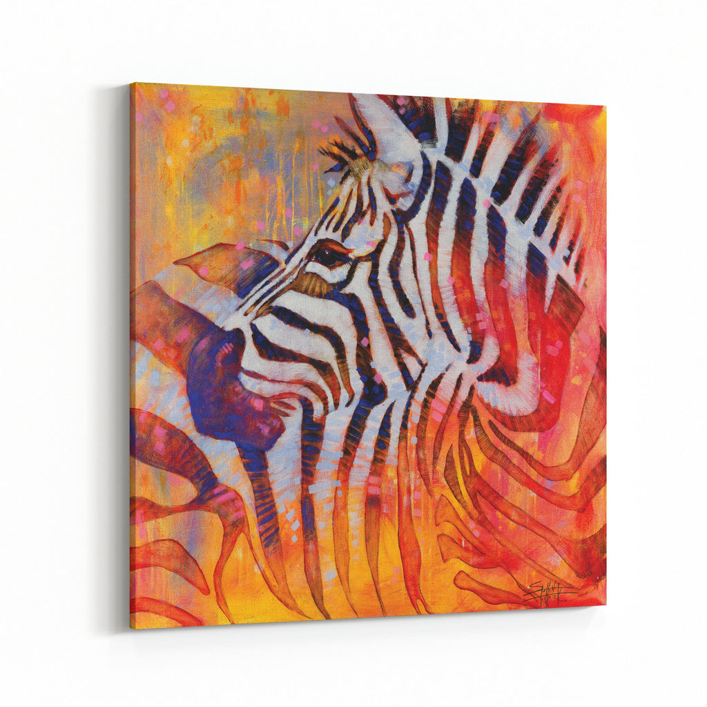 Stripes All Over Zebras by Stephen Fishwick Canvas Art