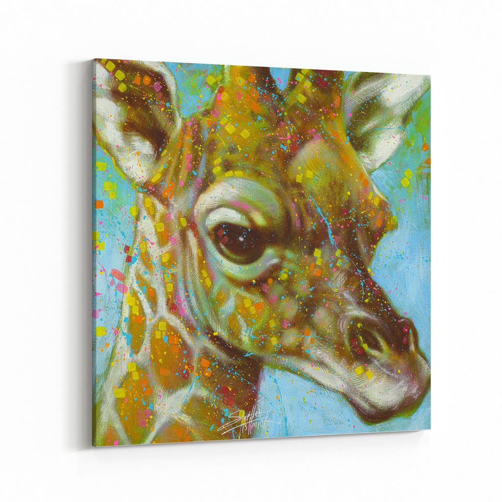 The Air Up There Giraffe by Stephen Fishwick Canvas Art