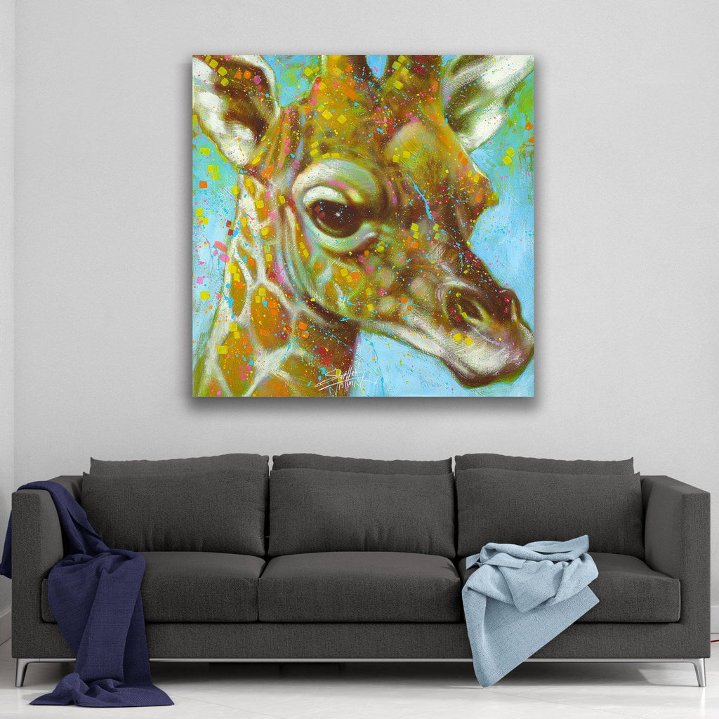 Canvas The Air Up There Giraffe by Stephen Fishwick Canvas Art