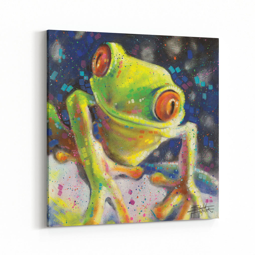 Trees Frog by Stephen Fishwick Canvas Art