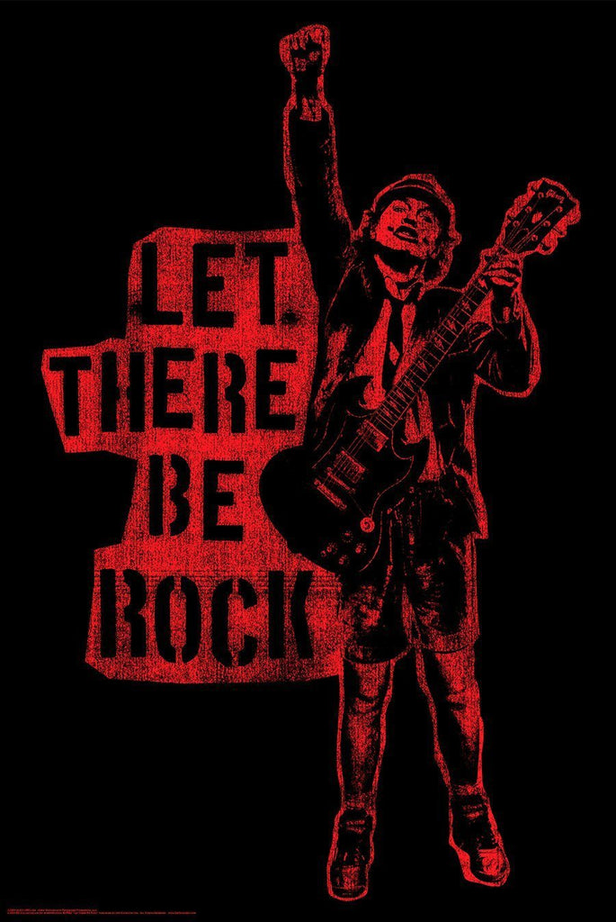 "Posters 24x36 ""AC/DC Let There Be Rock"" Poster"