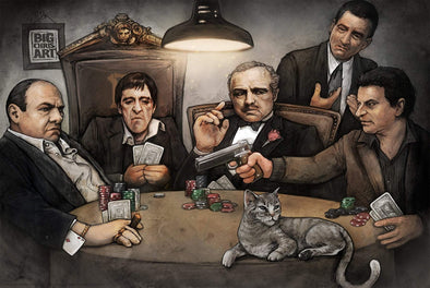 """Gangsters Playing Poker"" Poster By Big Chris"