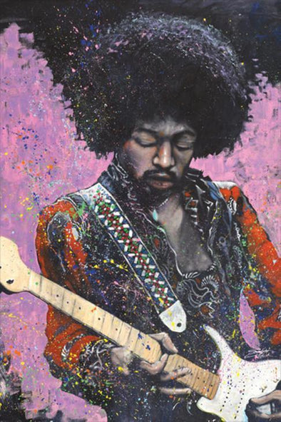 """Jimi"" Poster By Stephen Fishwick"