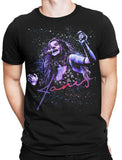 Janis Joplin T-Shirt Kosmic Blues by Stephen Fishwick