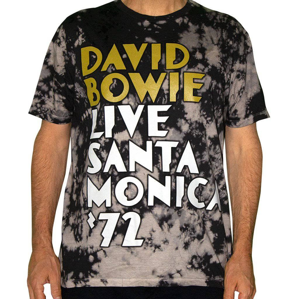 David Bowie Live in Santa Monica Tie Dye T-Shirt