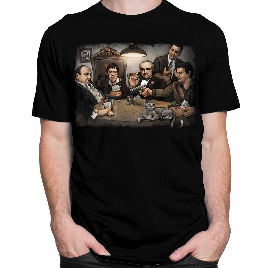 T-Shirt Gangsters Playing Poker T-Shirt by Big Chris