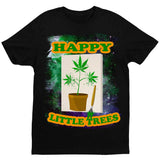 Happy Little Trees T-Shirt by Daveed Benito