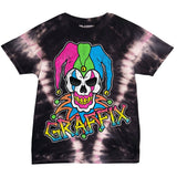 T-Shirt Neon Graffix Pink and Black Tie Dye T-Shirt
