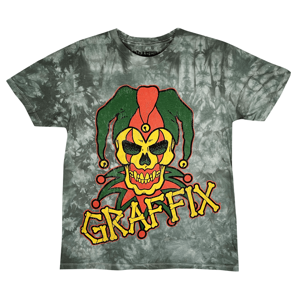 T-Shirt Rasta Graffix Logo Distressed Tie Dye T-Shirt