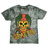 Rasta Graffix Logo Distressed Tie Dye T-Shirt