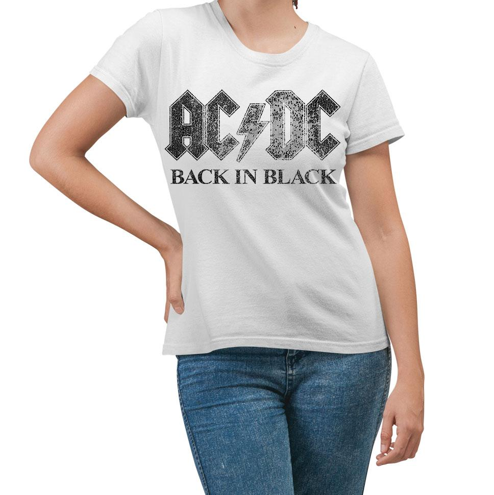 AC/DC Back In Black White Women's T-Shirt