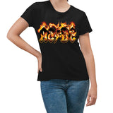 AC/DC T-Shirt Women's Flames